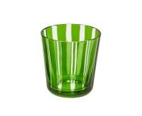 Kristallglas / Teelichthalter Ela, grün, handgeschliffenes Glas , Höhe 8 cm, Füllmenge 0,14 Liter