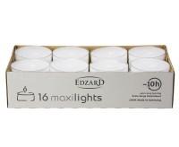 16 Stück WENZEL Maxilights Maxi-Teelichter, weiß, transparente Kunststoffhülle, ø 54 mm, ohne Duft
