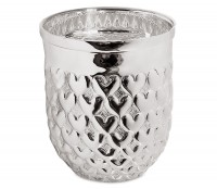 Silberbecher Trinkbecher Becher Vase Herz, schwerversilbert, Höhe 10 cm, Füllmenge 0,30 Liter