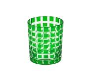 4er Set Kristallgläser / Teelichter Marco, grün, handgeschliffenes Glas, Höhe 9 cm, Inhalt 0,25 L