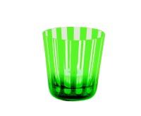 6er Set Kristallgläser / Teelichter Ela, grün, handgeschliffenes Glas, Höhe 8 cm, Inhalt 0,14 Liter