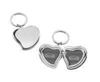 SALE Schlüsselanhänger Herz für 2 Fotos 3 x 3 cm, zum Aufklappen, edel versilbert, anlaufgeschützt