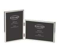 Doppel-Fotorahmen Otto für 2 Fotos 10 x 15 cm, edel versilbert, anlaufgeschützt