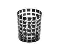 4er Set Kristallgläser / Teelichter Marco, Farbe schwarz, handgeschliffenes Glas in Überfangtechnik,