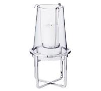 Windlicht Moll, Edelstahl vernickelt, mit Glas, Höhe 30 cm, Durchmesser 15 cm