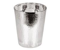 Silberbecher Trinkbecher Becher Vase Robin, schwerversilbert, Höhe 10 cm, Füllmenge 0,30 Liter