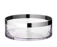 Schale Dekoschale Grit, mundgeblasenes Kristallglas mit Platinrand, Durchmesser 25 cm