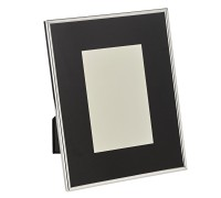 Fotorahmen Elda für Foto 10 x 15 cm, Passepartout, edel versilbert, anlaufgeschützt,2 Aufhänger