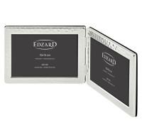 Doppel-Fotorahmen Pavia für 2 Fotos 10 x 15 cm Querformat, edel versilbert, anlaufgeschützt