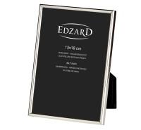 Fotorahmen Bilderrahmen Genua für Foto 13 x 18 cm, edel versilbert, anlaufgeschützt, 2 Aufhänger