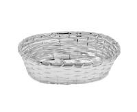 Brotkorb Servierkorb Basket, oval, geflochten, edel versilbert, anlaufgeschützt, 18 x 23 cm