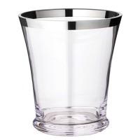 Flaschenkühler Reuben, mundgeblasenes Kristallglas mit Platinrand, Höhe 22 cm, Durchmesser 20 cm
