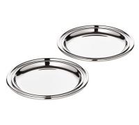 2er Set Untersetzer Gläseruntersetzer Astoria, edel versilbert, Durchmesser 11 cm