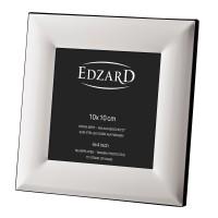 Fotorahmen Bilderrahmen Gela für Foto 10 x 10 cm, edel versilbert, anlaufgeschützt, mit Aufhänger