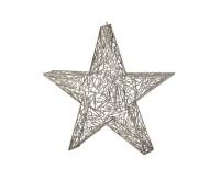 SALE Deko Stern Weihnachtsstern, Edelstahl glänzend vernickelt, Höhe 47 cm