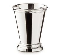 Vase Dekovase Bechervase Perla, schwerversilbert, Höhe 9 cm, Durchmesser 8 cm, Füllmenge 200 ml