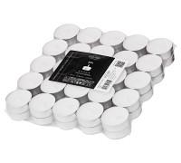 50 Stück Teelichter weiß, Premium Wachs, Alu-Cup, Durchmesser 39 mm, ohne Duft, Brenndauer 4 Stunden