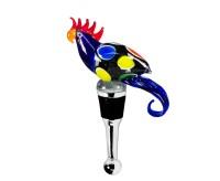 Flaschenverschluss Papagei blau