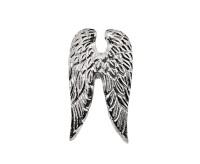 Kerzenpin Kerzenstecker Flügel Wings, Aluminium vernickelt, Höhe 7 cm