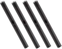 4 Stück Stabfeuerzeug Länge 18 cm, matt schwarz, verstellbare Flamme, nachfüllbar