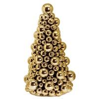 Deko-Tannenbaum, Keramik goldfarben, Höhe 27 cm
