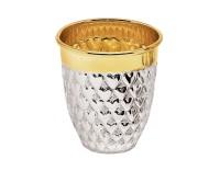 Becher Herz, Echtsilber 925/000, innenvergoldet, H 5 cm, Füllmenge 0,04 Liter, Silbergewicht 40 g