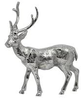 Deko Rentier, Aluminium vernickelt, Höhe 30 cm