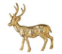 SALE Dekofigur Rentier Reh Hirsch Josse, Aluminium vernickelt goldfarben, Höhe 31 cm