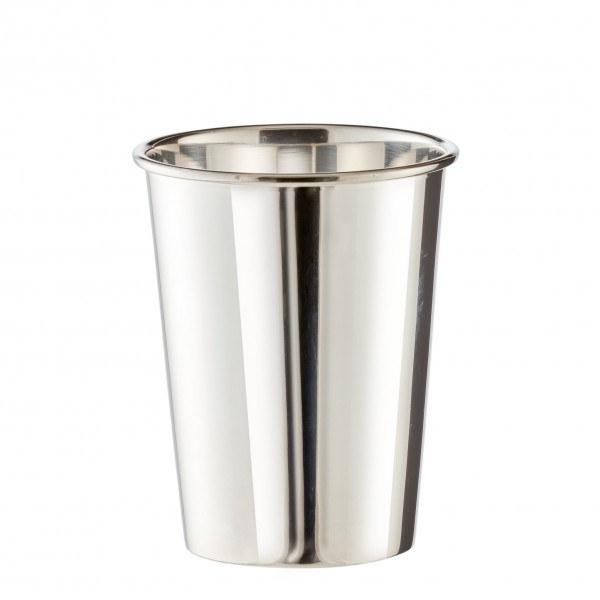 Becher Trinkbecher Silberbecher Vase Konus, schwerversilbert, Höhe 9 cm