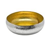 Schale Dekoschale Concordia, Reiskornmuster, innen Gold-Optik, Durchmesser 35 cm