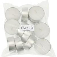 12 Stück Maxi-Teelichter weiß, Premium Wachs, Alu-Cup, Durchmesser 55 mm, Höhe 20 mm